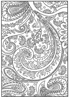 Dover Publications Creative Haven Paisley Coloring Page