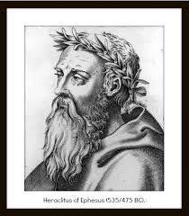 Heráclito de Éfeso, fue un filósofo griego presocrático premonista.Nació hacia el año 535 a. C. y falleció hacia el 484 a. C..  Era natural de Éfeso, ciudad de la Jonia, en la costa occidental del Asia Menor (actual Turquía). Como los demás filósofos anteriores a Platón, no quedan más que fragmentos de sus obras, y en gran parte se conocen sus aportes gracias a testimonios posteriores.