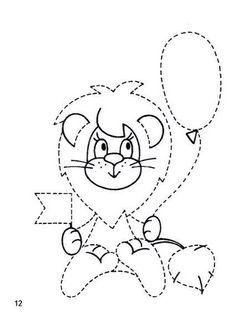 Sevimli Aslan - Çizgi Çalışması - Okul öncesi çocuklar için güzel bir çizgi çalışması.