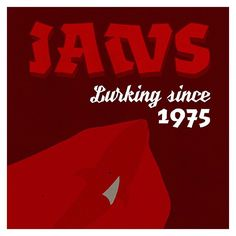 Jaws: Lurking for 40 years. #Fontspiration by @_mrzyan featuring type by @Ultratypes and @Fontyou #StevenSpielberg #jaws #UTNickel #AlgoFY