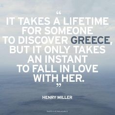 """It takes a lifetime for someone to discover Greece, but it only takes an instant to fall in love with her"" -Henry Miller © Petros Koublis Corfu, Crete, Karpathos, Mykonos, Santorini, Greece Quotes, Henry Miller, Beauty Quotes, Greece Travel"