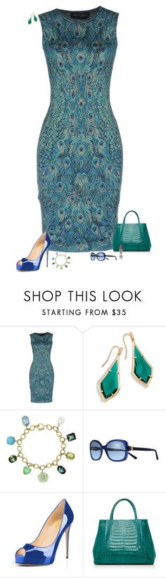 """Shades of teal"" by julietajj ❤ liked on Polyvore featuring Antonino Valenti, Irene Neuwirth, Tory Burch, Nancy Gonzalez and CARGO"