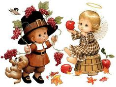 Thanksgiving Ruth Morehead Kids and Autumn Fruits Greeting Card . Disney Thanksgiving, Thanksgiving Greetings, Vintage Thanksgiving, Thanksgiving Decorations, Thanksgiving Pictures, Fall Pictures, Christmas Greetings, Autumn Illustration, Cute Illustration