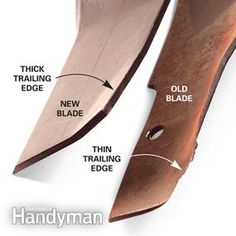 Your lawn mower blade is dull or mulching. We'll show you the difference old and new blades and how to sharpen a mower blade to perfection. Lawn Mower Maintenance, Lawn Mower Repair, Home Design, Modern Design, Sharpen Lawn Mower Blades, Walk Behind Mower, Lawn Care Tips, Blade Sharpening, Riding Mower