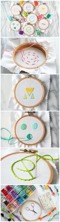 Learn the basics of hand embroidery: hoops, threading the needle, running stitch, backstitch, split stitch, French knots, stem stitch, satin stitch, and straight & seed stitches.