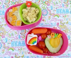 Peace and Love Bento Box -use cookie cutters for cheese letters