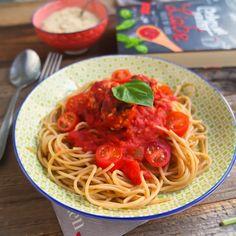 Vegane Spaghetti mit Fleischbällchen fettarm gesund lecker