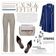 """Striped Shirts"" by aurora-australis ❤ liked on Polyvore featuring Altuzarra, Steve Madden and Envi"