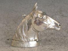 Victorian Novelty Antique Silver Figural Horses Head Vesta Case, H.B.S, BIRMINGHAM 1884