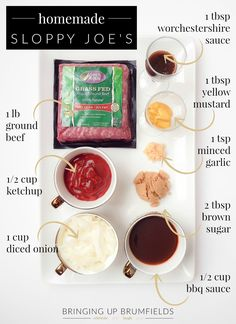 Paleo Diet Menu, Beef Recipes, Cooking Recipes, Burger Recipes, Homemade Sloppy Joes, Homemade Meatloaf, Joe Recipe, Good Food, Yummy Food