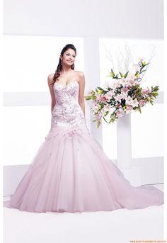 Herz-neck Glamoures Schönste Brautkleider für Prinzessin aus Organza