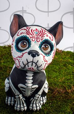 Day of the Dead Boxer by temikasperry on Etsy