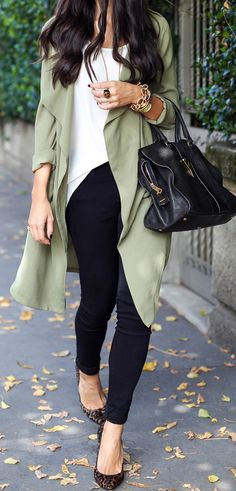Olive duster jacket