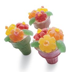 Flower Cupcake in a Cone ~ cute for May Day!