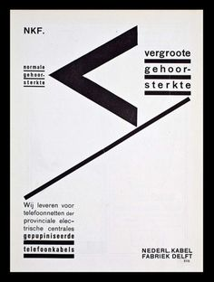 Piet Zwart - NKF (Netherlands Cable Factory) Greater Sound Transmission Telephone Cables Advert, 1927