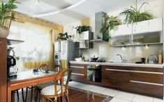 Mirror & Windows Decorating Kitchen design