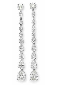 Pear Marquise Long Chandelier Earrings Bridal Jewelry Solid 925 sterling silver  #Niki #DropDangle