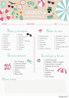 Freebie: Checklist for packing and don& forget n .- Freebie: Checklist para hacer la maleta y que no se olvide nada (Aubrey and Me) Freebie: Checklist for packing and don& forget anything - Travel Checklist, Travel Packing, Travel Usa, Travel Tips, Travel Logo, Packing Tips, Travel Hacks, Face Mapping, Travel Quotes