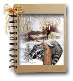 """""""Winter Raccoon..."""" by maryv-1 ❤ liked on Polyvore featuring art"""