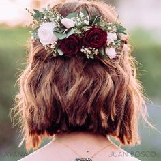 Flower Veil, Flower Crown, All Hairstyles, Wedding Hairstyles, Floral Headdress, Look Plus Size, The Wedding Date, Wedding Ideas, How To Preserve Flowers