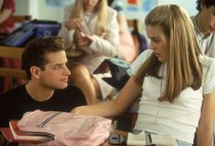 Justin Walker and Alicia Silverstone as Christian Stovitz and Cher Horowitz in Clueless Clueless Quotes, Clueless 1995, Clueless Outfits, Uni Outfits, Cher Horowitz, 90s Movies, Movie Tv, Justin Walker, Alicia Silverstone