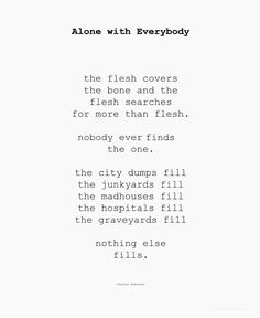 Charles Bukowski - Alone with Everybody (fragment)