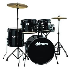 ddrum D120B MB D Series Drum Set 5 Piece Complete Black * For more information, visit image link.Note:It is affiliate link to Amazon.