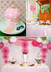 Pink Fairy Girl Woodland Tinkerbell Birthday Party Planning Ideas