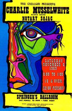 Charlie Musselwhite nov 1969. #gigposters #musicart #concerts http://www.pinterest.com/TheHitman14/music-poster-art-%2B/
