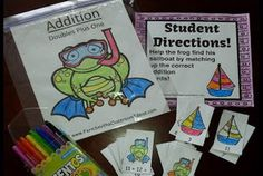 Fern Smith's FREE Addition Doubles Plus One Quick and Easy Summer Themed Center and Printables
