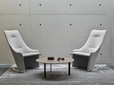 Rocking fabric armchair NAGI by Viccarbe design Tomoya Tabuchi