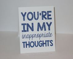 Funny I Miss You card  You are in my thoughts by PersonalPaperHugs