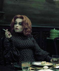 Julia and her cigarette