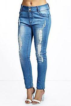 Plus Mel High Waisted Stretch Skinny Jeans plus size fashion