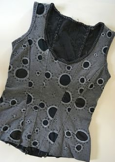 Corset top made from old t-shirts | Flickr - Photo Sharing!