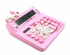 Hello Kitty Solar Calculator - KT520 Pink