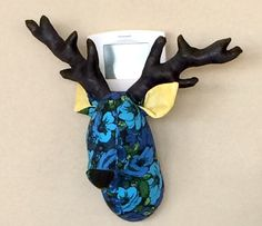 Stuffed fabric deer head.  Used for Woodland baby shower