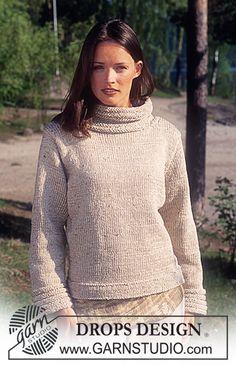 Pull DROPS en Karisma Ull-Tweed et Coton Viscose ~ DROPS Design