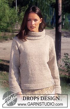 DROPS Pullover in Karisma Ull-Tweed and Cotton Viscose. ~ DROPS Design