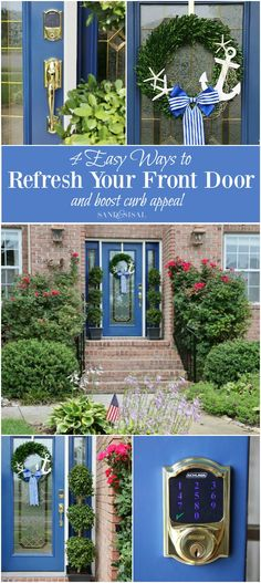 """4 Easy Ways to Refresh Your Front Door and Boost Curb Appeal! #CurbAppealContest  @schlagelocks """"Schlage Curb Appeal Contest.  I love the new technology for doors, so cool! This is on my wish list!"""