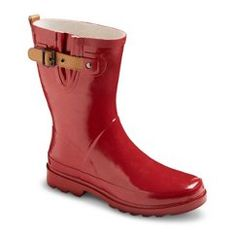 Women's Premier Mid Rain Boots - Red 8