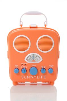 Rock out at the beach or pool with our Orange Peel Sunnylife Beach Sounds Radio - sand-resistant & water-resistant!