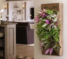 Indoor vertical gardening box - I want this so bad! It would look wonderful with petunias :)