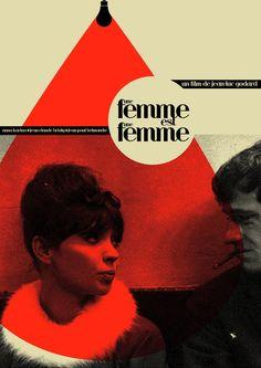 Uma Mulher É Uma Mulher (Une femme est une femme - 1961). Um dos primeiros filmes de Jean-Luc Godard, charmoso e inventivo desde os letreiros iniciais. Com Anna Karina, Jean-Claude Brialy e Jean-Paul Belmondo.