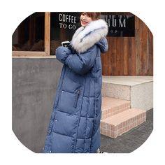 Ins Chic Fur Hood Cotton Winter Female Coat Women Parka Plus Size Puffer Jacket Harajuku Coats Outerwear Puffer Jackets, Winter Jackets, Blue Vests, Womens Parka, Coats For Women, Harajuku, Plus Size, Fur, Female