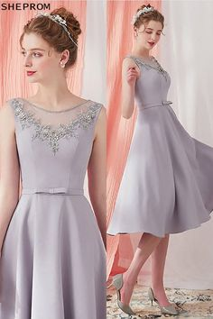 Shop Grey Beaded Neckline Knee Length Party Dress Vintage V Back online. SheProm offers formal, party, casual & more style dresses to fit your special occasions. Grey Midi Dress, Lace Dress, Dress Up, Midi Dresses, Homecoming Dresses, Bridesmaid Dresses, Costume, Formal Evening Dresses, Simple Dresses