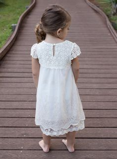 Crochet Flower Girl Dress Rustic Flower Girl от CountryCoutureCo