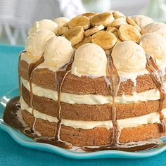 bananas foster ice cream cake