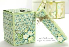 Stampin' Up! UK Demonstrator Pootles - 2 boxes from one sheet of Cardstock Tutorial