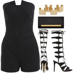 Style #8064 by vany-alvarado on Polyvore featuring Topshop, Yves Saint Laurent and Maison Margiela